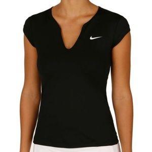 Nike Pure Short Sleeve Dri Fit Tennis Top Black M